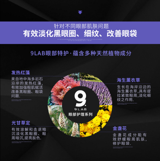 九硏美尚(9LAB)祛除皱纹、黑眼圈使用指南